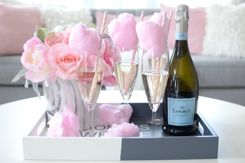 Cotton Candy Champagne Galentine's Day