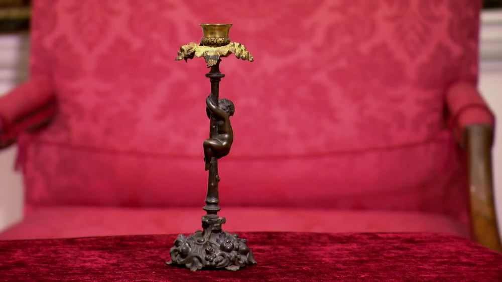Bronze Cherub Candle stick. £200 | The Swan | www.theswan.co.uk