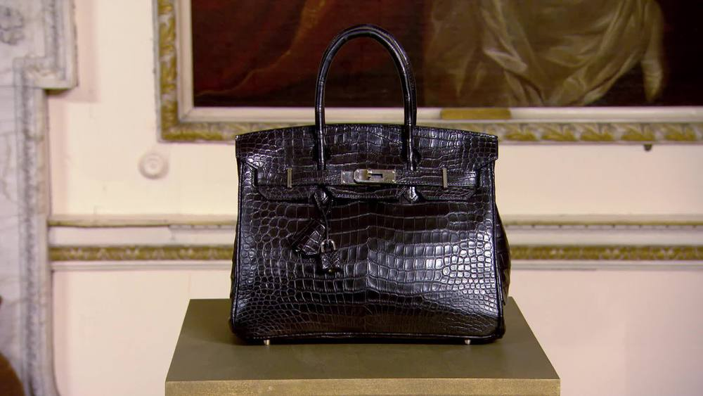 "Ladies black crocodile Hermes Birkin ""Exotic"" bag. £25,540 