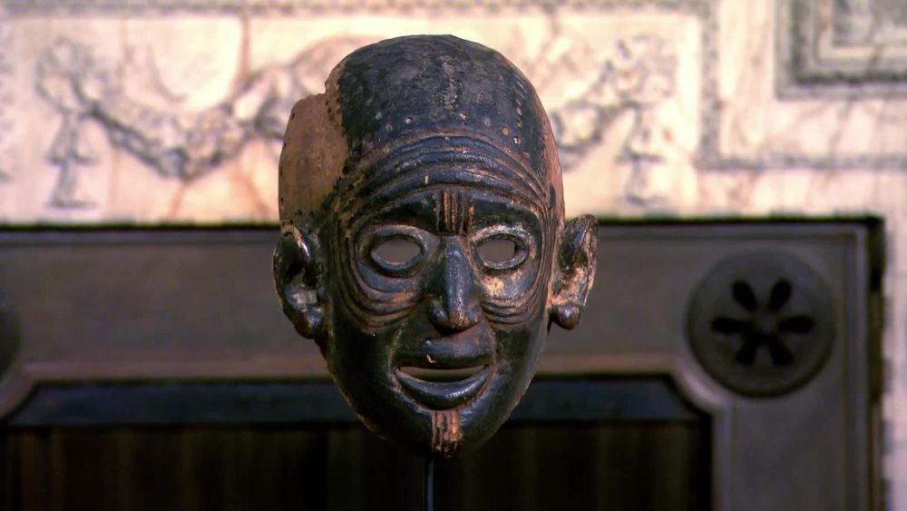 Early dance mask from the Chewa tribe - Malawi depicting a caricature of a village elder. £1600 | Tribal Gathering London | www.tribalgatheringlondon.com