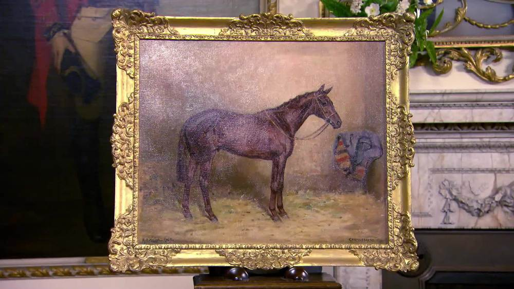 """Alfred Grenfell Haigh Horse Portrait of """"Chamossaire"""". £2000 