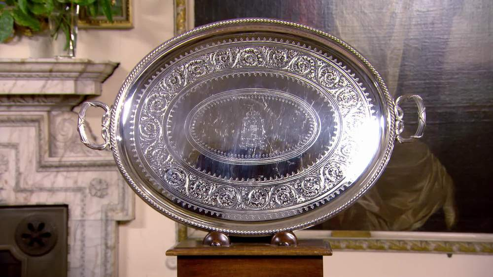 Elkington silver plate tray from 1883 £1490 | I Franks London | www.ifranks.com