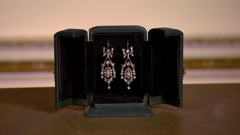 Diamond Victorian earrings 1860. £23,500 | Michael Rose | www.michaelrose.com