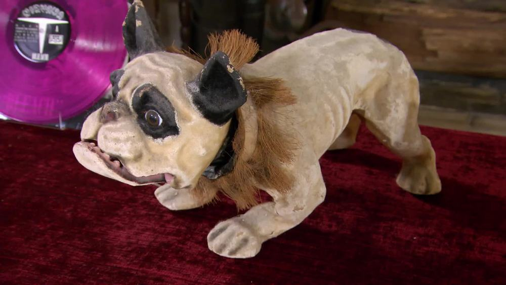 Victorian papier mache Boston Terrier Growler.  £2000 | Maison Dog | www.maisondog.co.uk