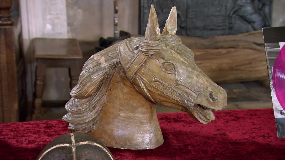 A 1920's/30's carved wooden carousel horse's head. £390 | The Swan at Tetsworth | www.theswan.co.uk