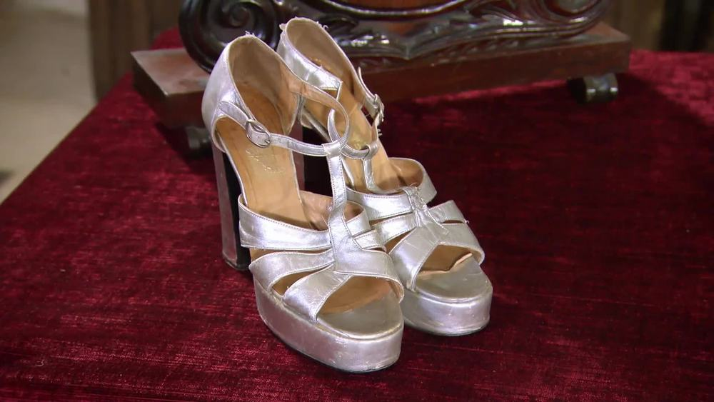 Biba heels from the 1970's. Highly collectible fashion house. £110 | Hope and Harlequin | www.hopeandharlequin.com