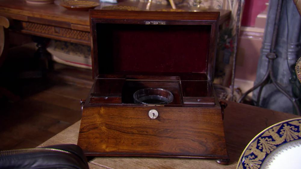 19th Century Rosewood sarcophagus tea caddy. £230 | The Swan | www.theswan.co.uk