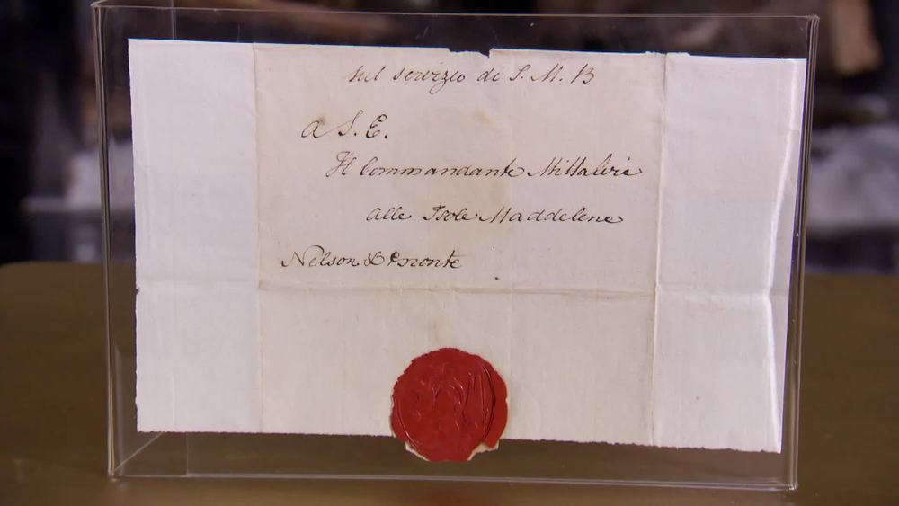 Envelope Sheet of Viscount Horatio Nelson with Secretarial Signature 'Nelson & Bronte'. £460 | The Swan | www.theswan.co.uk