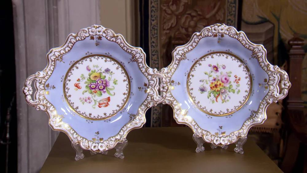 Pair of Minton plates. Regency 1825. £370 | The Swan | www.theswan.co.uk