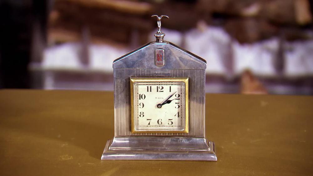 Rare silver Art Deco Rolls Royce clock. £2000 |Sutton and Roberstons |www.suttonsandrobertsons.com