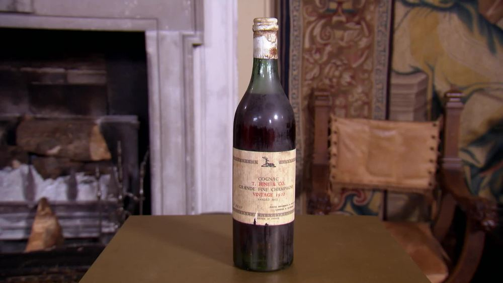 A historic bottle of 1922 Hine Cognac. £850| Whisky Exchange | www.thewhiskyexchange.com