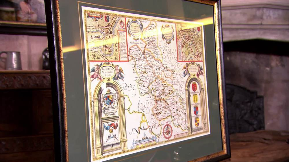 John Speed map of Buckinghamshire. Circa 1612, first edition county map. £880 |The Swan |www.theswan.co.uk