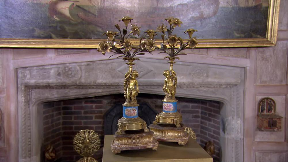 Louis XVI Style candelabra on Stands. £2000|The Swan |www.theswan.co.uk