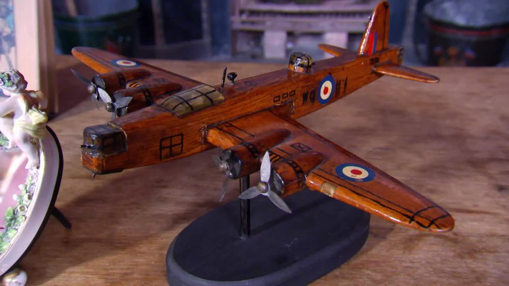 Wooden Bomber. £100 | Private Collection.