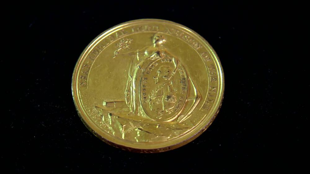 Gilt Bronze Battle of Nile Nelson Medal. £600 |Private Collection