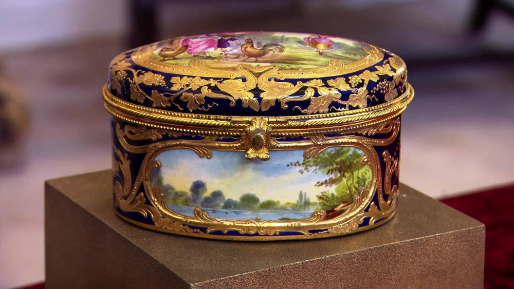 Porcelain Sevres Style Jewellery Casket £250 | Private Collection.