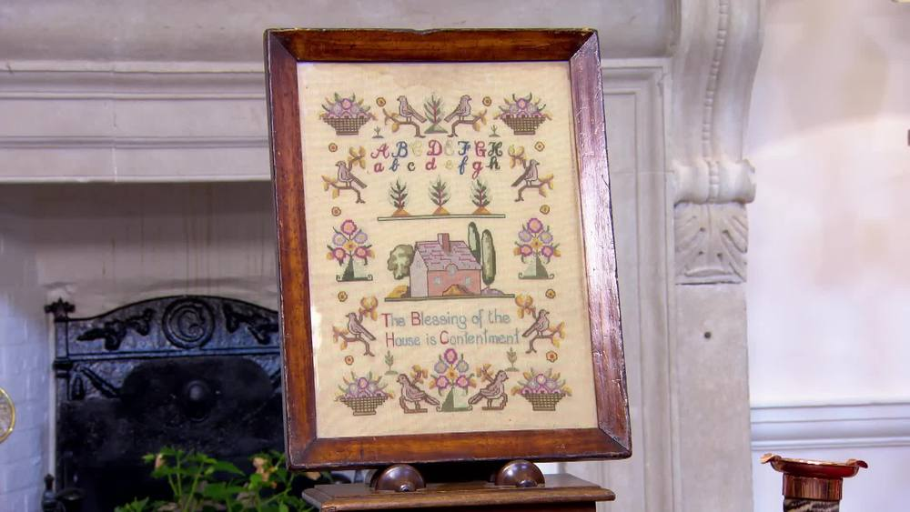 Needlework sampler. £90 | Private Collection.