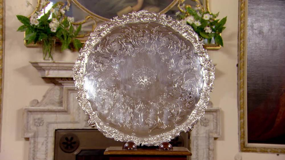 Very Large Old Sheffield Plate Silver Salver circa 1800. £1000 | David Foord-Brown | www.davidfoord-brown.com