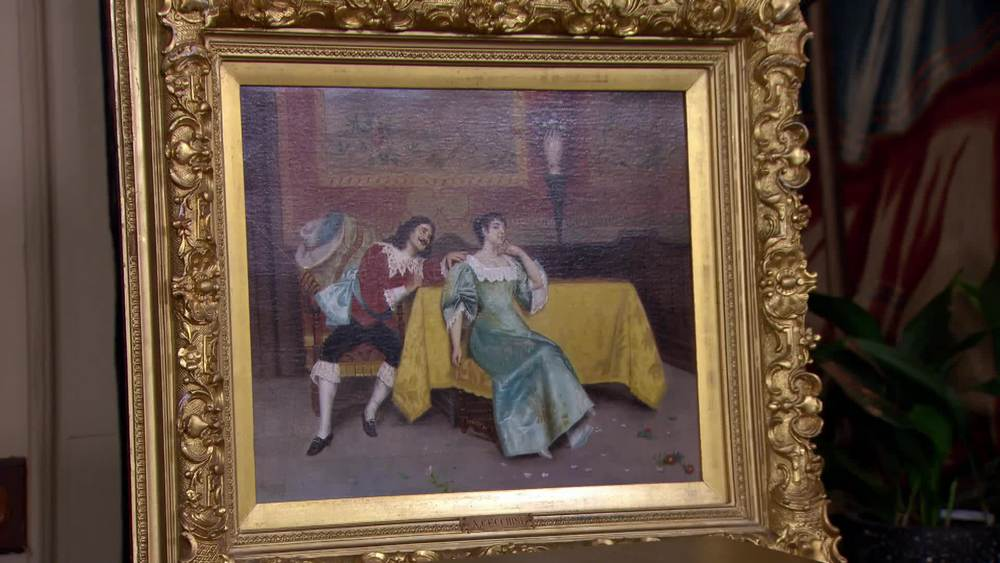 19th Century figures in a scene by A. Cecchini. £3000 | Mcmillan Fine Art | www.mcmillanfineart.com