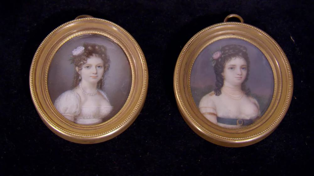 A pair of circa 1800 portrait miniatures. £1600 | Private Collection