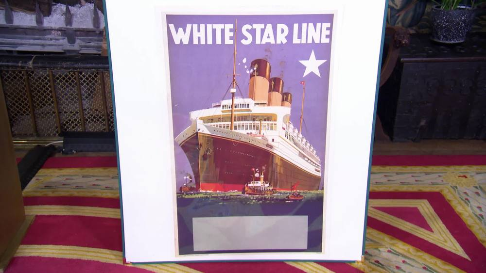 Original vintage cruise poster issued by White Star Line from the 1920s. £2500 | Antikbar | www.antikbar.co.uk