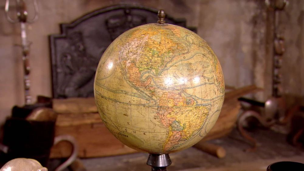 A 1920's French terrestrial Globe. £240 | The Swan | www.theswan.co.uk