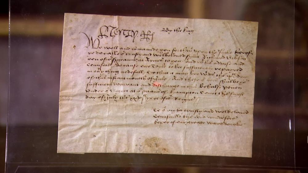 A signed document from Henry VIII dating from 1534. £20,000 | Bloomsbury Auctions | www.frasersautographs.com