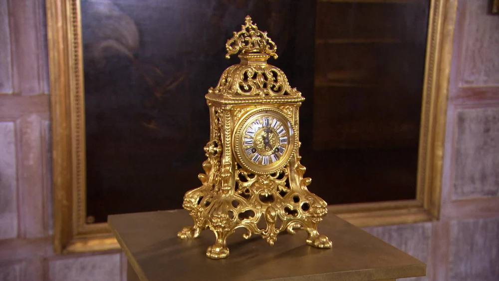 French 19th Century Golden Ormolu clock. £950 | Xupes | www.xupes.com