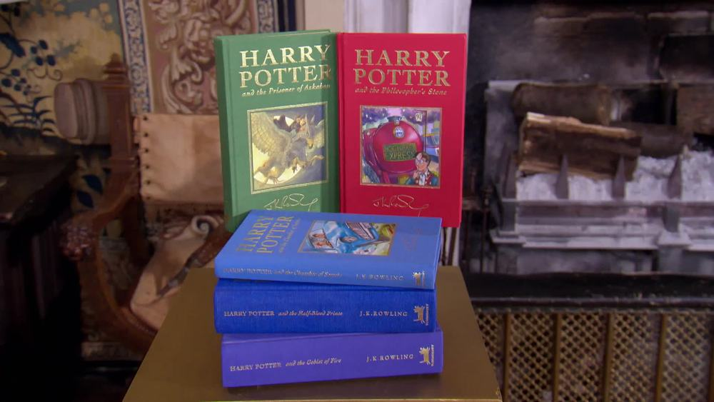All seven UK deluxe hardbacks of Harry Potter series, all 1st print 1st edition. £2000 | Quite Bizarre | www.quitebizarre.co.uk