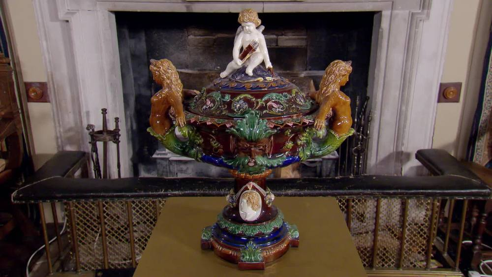 Victorian Large Majolica Centrepiece. £1200 | Parade Antiques | www.paradeantiques.co.uk