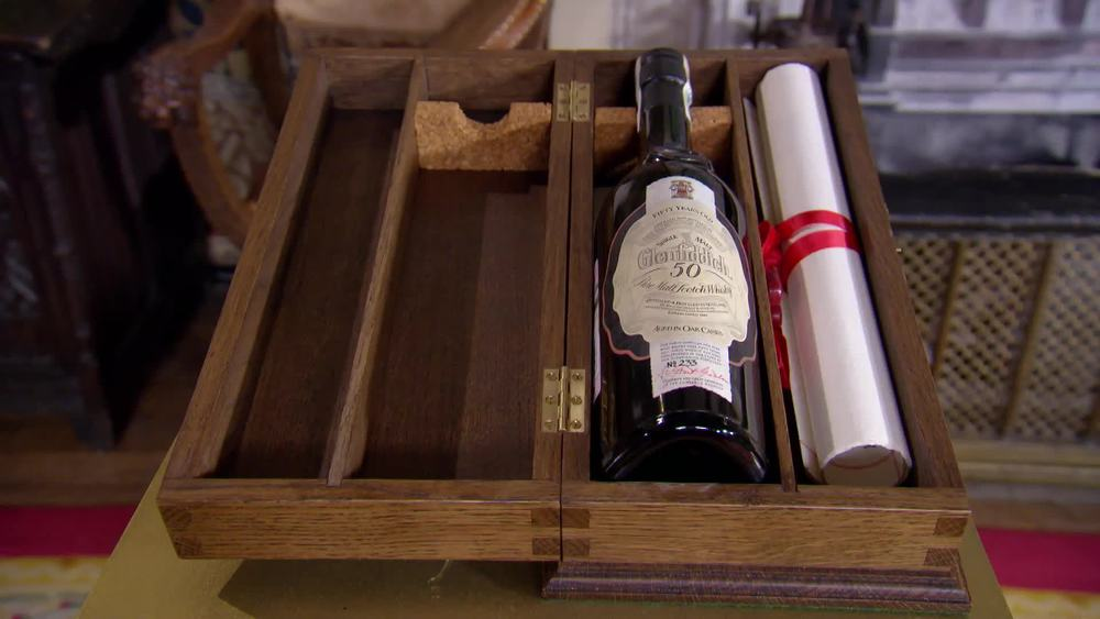 "A 1991 bottle of Glenfiddich ""50 Year Old"". £1750 