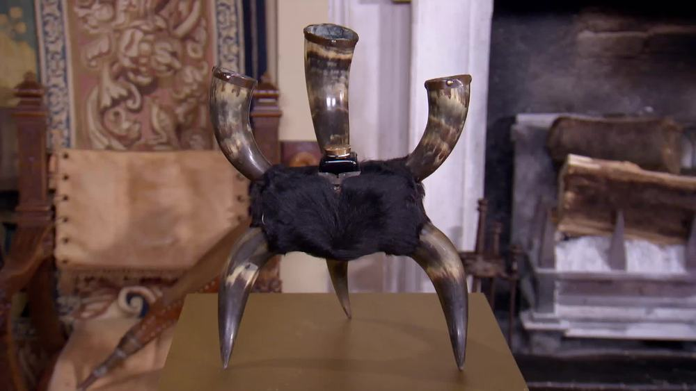 Unusual Horn Inkwell. £120 | Private Collection