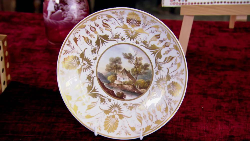 Mid 19th century Derby plate. £220 | The Swan | www.theswan.co.uk
