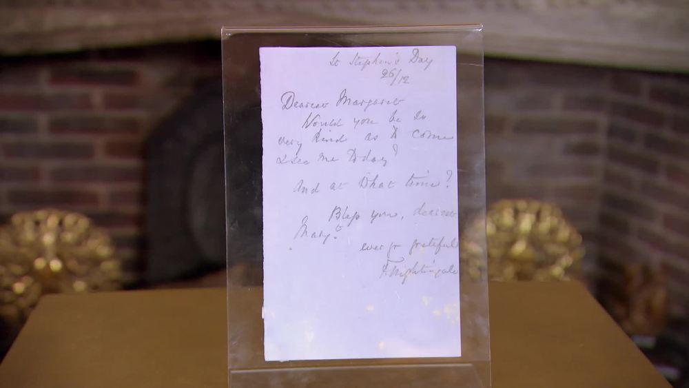 Florence Nightingale autograph letter 1900. £750 |Sophie Dupre |www.sophiedupre.com
