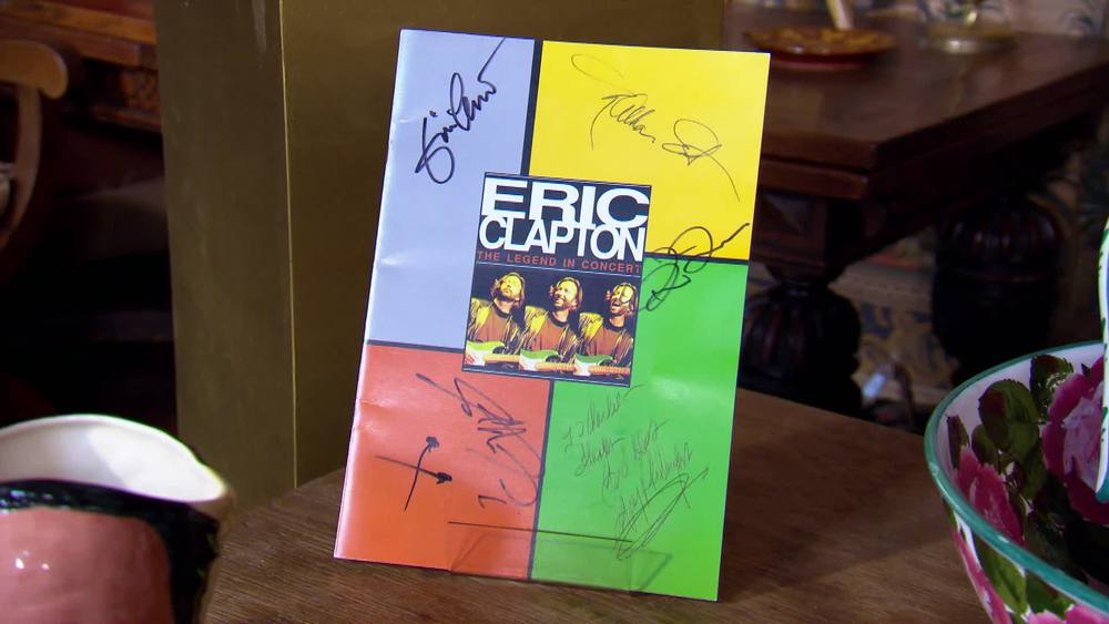 A large colour programme Eric Clapton tour signed by Clapton and other members. £600 | Autografica | www.autografica.co.uk