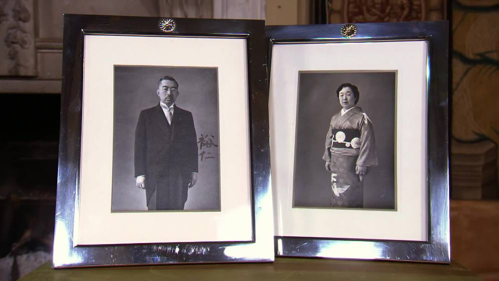Signed presentation photos from Hirohito & his wife Empress Nagako. £17,500 | Sophie Dupre | www.sophiedupre.com