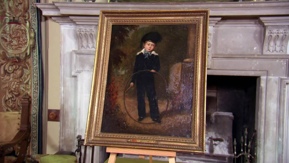 Oil on canvas c1790. Boy with hoop Sir W Beechey. £990 | The Swan | www.theswan.co.uk