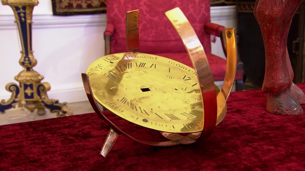 Brass and copper sundial in deco style. £200 | The Swan | www.theswan.co.uk
