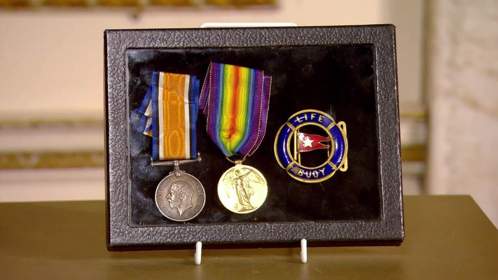 Bravery medals awarded to Harold Sidney Bride the wireless operator on the Titanic. £25,000 | London Medal Company | www.london-medals.co.uk