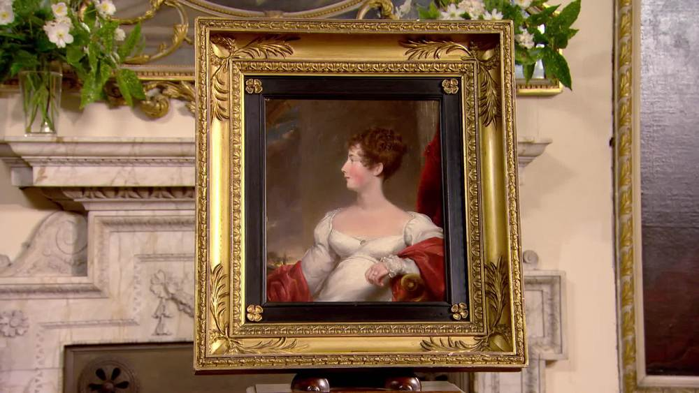 A painting of a lady in a white dress. Amelia Elizabeth 1819. £1500 | The Swan | www.theswan.co.uk