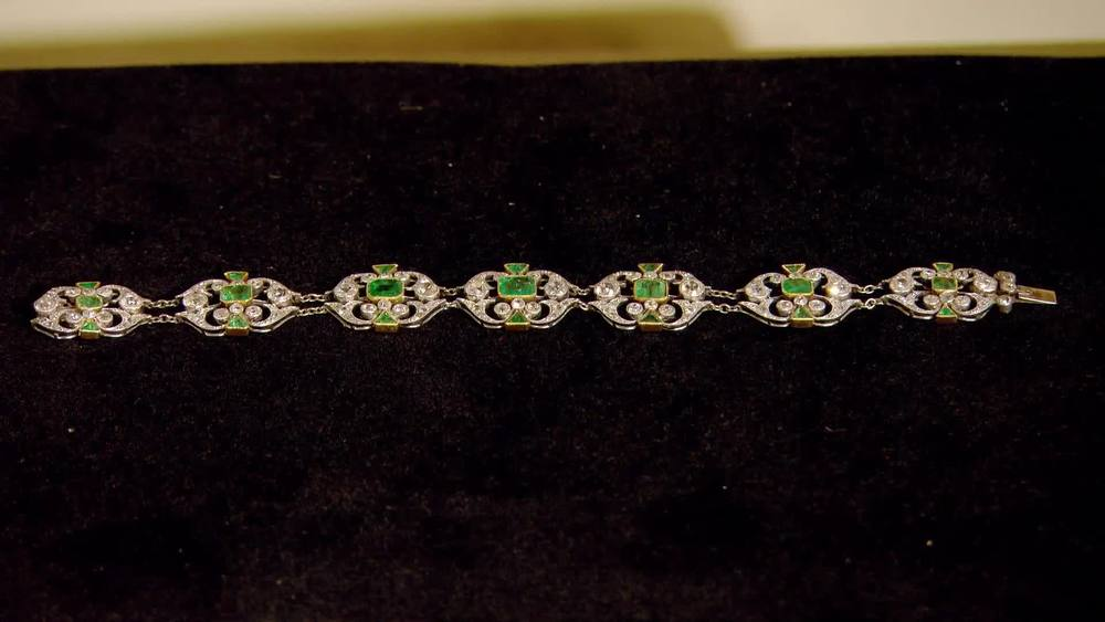 Emerald and diamond bracelet set in platinum. Total emerald weight: 8.00ct 1930s/40s. £39,500 | Michael Rose | www.michaelrose.com