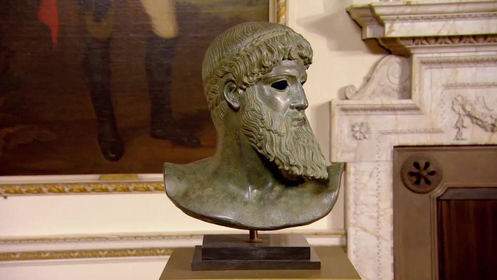 A bronze bust of Zeus. £470 | The Swan | www.theswan.co.uk
