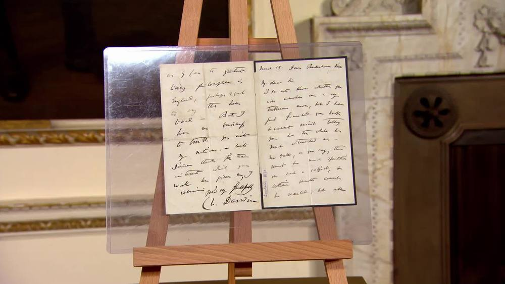 Darwin signed letter to Sir Edwin Ray Lankester (who became director of Natural History at the British Museum) complimenting him on his book. Dates from 1870. £18,000 | Bloomsbury Auctions | www.frasersautographs.com
