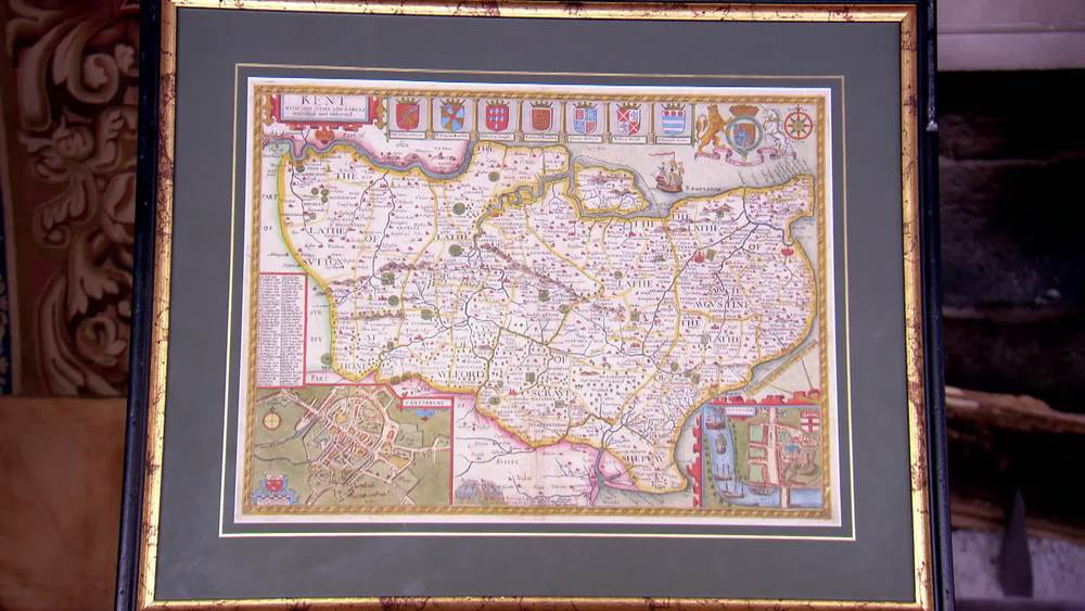 John Speed map of 1676 Kent. £790 | The Swan | www.theswan.co.uk