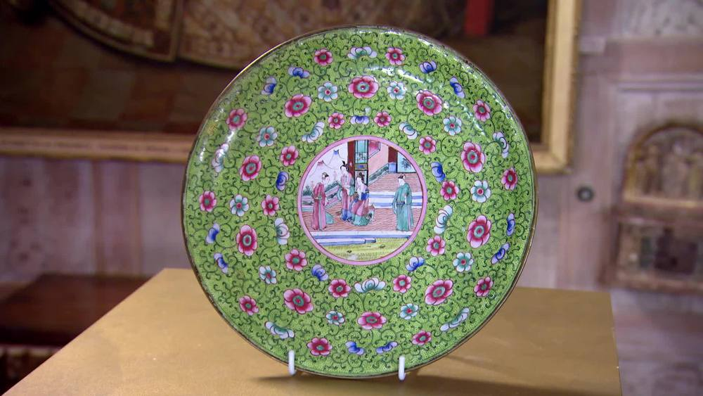 Early 19th Century Cantonese Enamel Plate. £130 | The Swan |www.theswan.co.uk