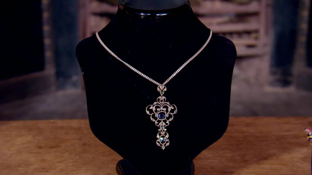 Pendant with diamonds and sapphires. £850 | The Swan |www.theswan.co.uk