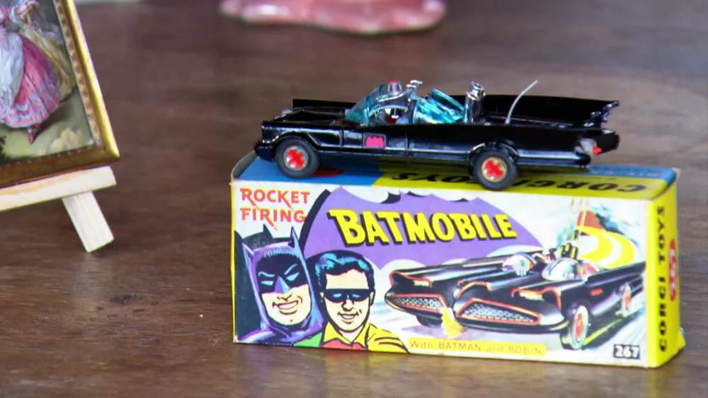 """Batmobile -""""Red Hubs""""model produced 1966-83. £500 