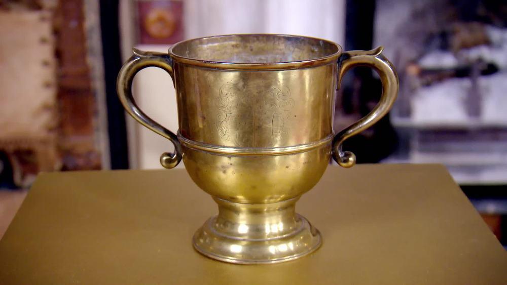 1750s brass loving cup. £4000 | Paul Beedman |www.beedhamantiques.co.uk