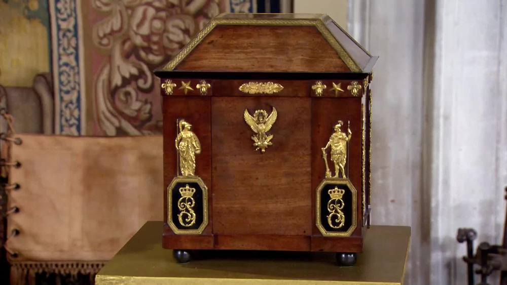 Paulina Bonaparte's personal mahogany letterbox,France, circa 1805. £175,000 | Michael Lipitch |www.english-furniture.net
