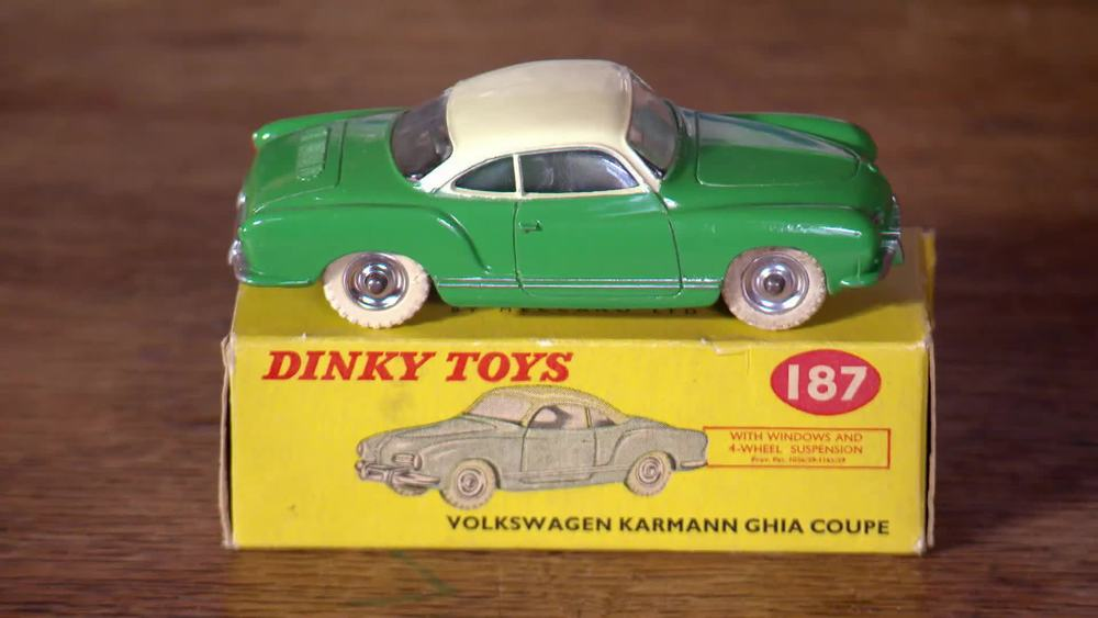Dinky 187 VW Karmann Ghia Coupe. £750 | Die Cast Gems |www.diecastgems.com